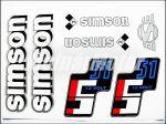 SIMSON 51 MATRICA KLT. S51 12V FEÉR-EZÜST-KÉK