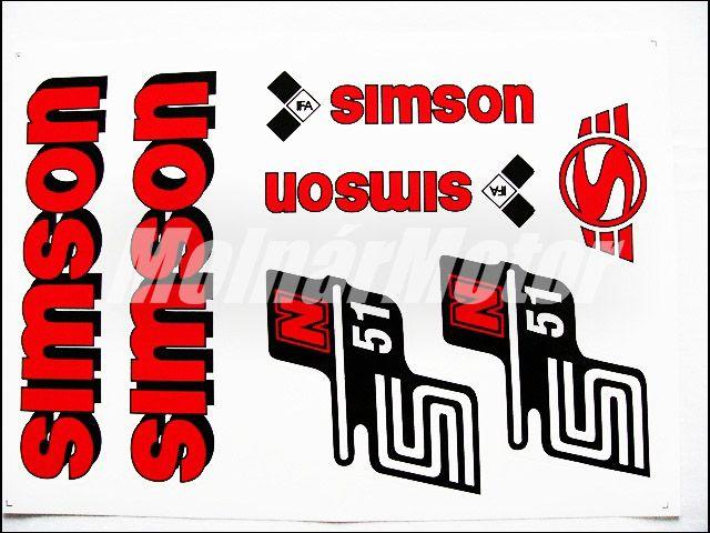 SIMSON 51 MATRICA KLT. N51 PIROS